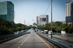 La plus mauvaise inondation de Bangkok en 2011 Photographie stock
