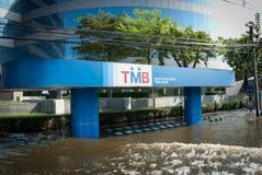 La plus mauvaise inondation de Bangkok en 2011 Images libres de droits