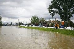 La plus mauvaise inondation sur le disque à travers les Balkans en Serbie Image libre de droits