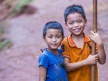 La población del pueblo de Laos imagen de archivo libre de regalías
