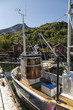 La poca barca del pesce Fotografia Stock