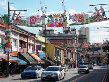 La poca India, Singapore immagini stock