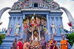 La poca India - Singapur, 7 de febrero de 2012: Un devoto en Thaipusa Foto de archivo libre de regalías