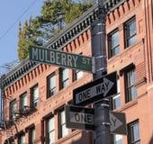 La poca Italia, st del gelso, New York, NYC Immagine Stock