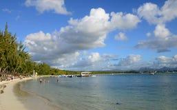 la Pointe辅助canonniers美丽如画的区域在毛里求斯 免版税库存图片