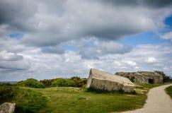 La Pointe du Hoc in Criqueville-sur Mer Stockbilder
