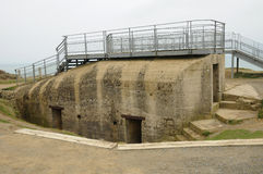 La Pointe du Hoc in Criqueville sur Mer in Normandie Stock Photos