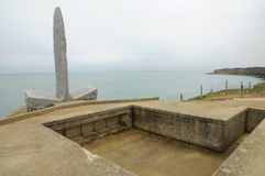 La Pointe du Hoc in Criqueville sur Mer in Normandie Royalty Free Stock Photography