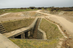 La Pointe du Hoc in Criqueville sur Mer in Normandie Royalty Free Stock Image