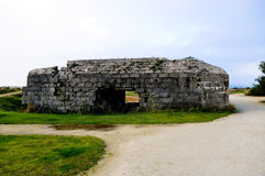 La Pointe du Hoc i Criqueville sur Mer Royaltyfria Foton