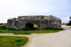 La Pointe du Hoc nel sur Mer di Criqueville Fotografie Stock Libere da Diritti