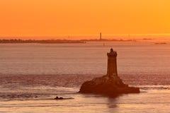 La Pointe du Raz在不列塔尼,法国 库存图片