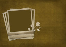 La polaroid con color de rosa y las cintas Libre Illustration