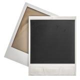 La polaroid istantanea delle strutture della foto isolaten su bianco Fotografie Stock