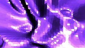 La poli superficie d'ondeggiamento bassa astratta viola come origami abbellisce Ambiente di vibrazione geometrico astratto viola  illustrazione vettoriale