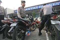 La policía arresta la motocicleta Fotos de archivo libres de regalías