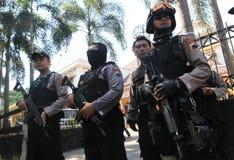 La policía asegura la ciudad Imagen de archivo libre de regalías