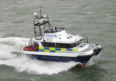La policía ayuna patrulla costera del gato Fotos de archivo