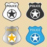 La policía badge Imagen de archivo libre de regalías