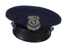 La policía Badge el casquillo Imágenes de archivo libres de regalías