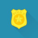 La policía badge el icono Imagen de archivo libre de regalías