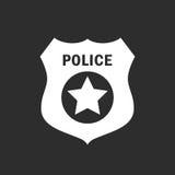 La policía badge el icono del vector Fotos de archivo libres de regalías