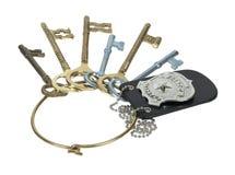 La policía Badge en el anillo de claves Foto de archivo