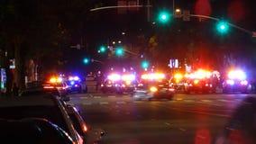 La policía bloquea de Santa Monica Blvd y de Lincoln Blvd imagen de archivo libre de regalías