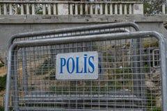 La policía cerca en Estambul, Turquía Fotos de archivo libres de regalías
