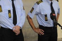 LA POLICÍA DE COPENHAGN ARTICULA RUEDA DE PRENSA Fotos de archivo
