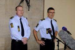 LA POLICÍA DE COPENHAGN LLEVA A CABO RUEDA DE PRENSA COMÚN Imagenes de archivo