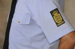 LA POLICÍA DE COPENHAGN LLEVA A CABO RUEDA DE PRENSA COMÚN Imágenes de archivo libres de regalías