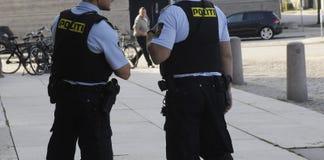 LA POLICÍA DE COPENHAGN LLEVA A CABO RUEDA DE PRENSA COMÚN Fotografía de archivo