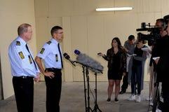 LA POLICÍA DE COPENHAGN LLEVA A CABO RUEDA DE PRENSA COMÚN Fotos de archivo