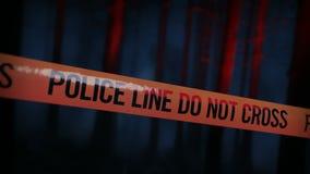 La policía de la escena del crimen graba el lazo 01