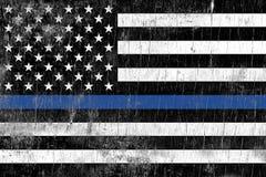 La policía de la aplicación de ley apoya la bandera Imagen de archivo libre de regalías
