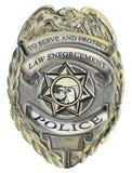 La policía de la aplicación de ley del sheriff badge stock de ilustración