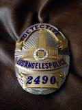 La policía del LA Badge Foto de archivo