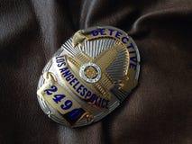 La policía del LA Badge Fotos de archivo