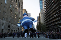 La policía departmen el globo en el desfile de Macy Fotos de archivo libres de regalías