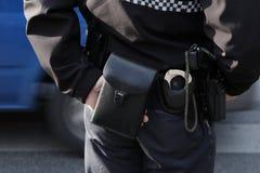 La policía patrulla Imagen de archivo