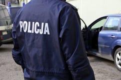 La policía polaca firma Foto de archivo