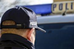La policía polaca firma Imagen de archivo