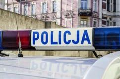 La policía polaca firma Fotografía de archivo