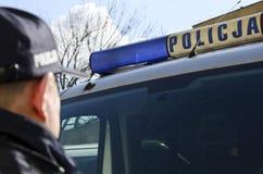 La policía polaca firma Foto de archivo libre de regalías