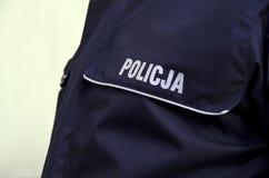 La policía polaca firma Imagenes de archivo