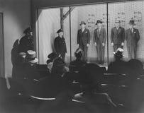 La policía se alinea Imagenes de archivo
