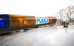 La policía se enciende Fotos de archivo