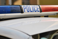 La policía patrulla Imagen de archivo libre de regalías