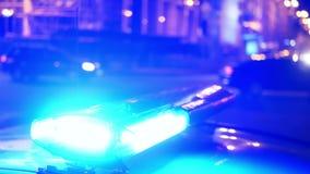 La police allume la nuit de ville banque de vidéos